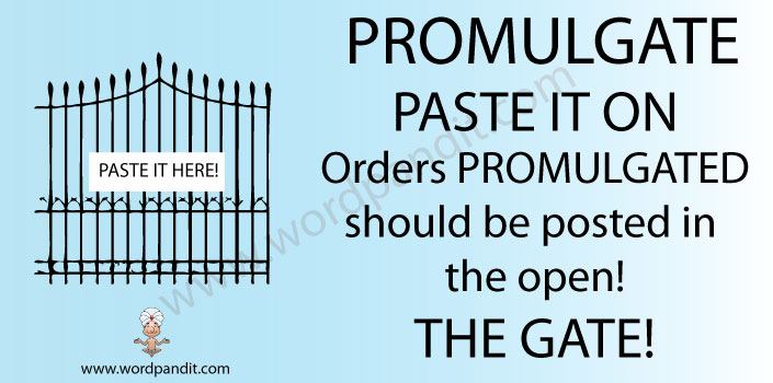 mnemonic aid for promulgate