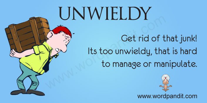 picture vocabulary for unwieldy