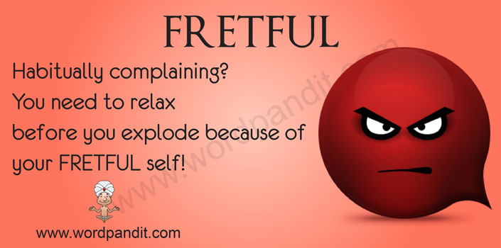 picture vocabulary for fretful