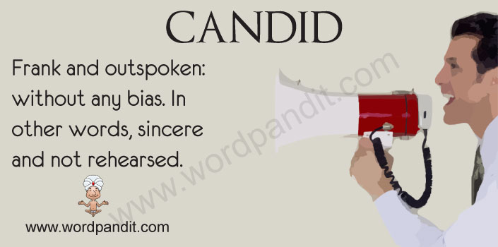 how to use candid in a sentence