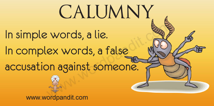 Picture for calumny