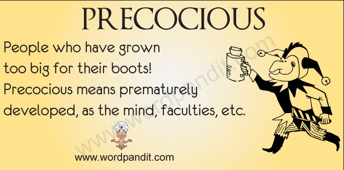 Picture for precocious