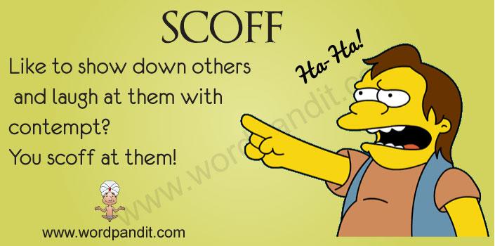 picture for scoff