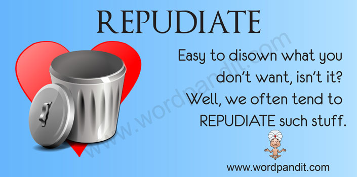 picture vocabulary for repudiate