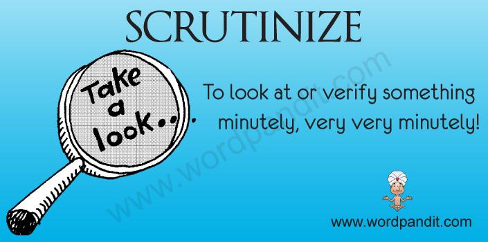 Picture for scrutinize