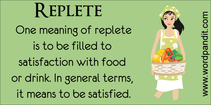 picture vocabulary for replete