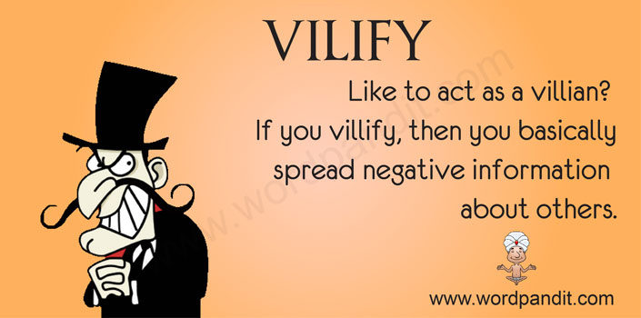 picture vocabulary for vilify