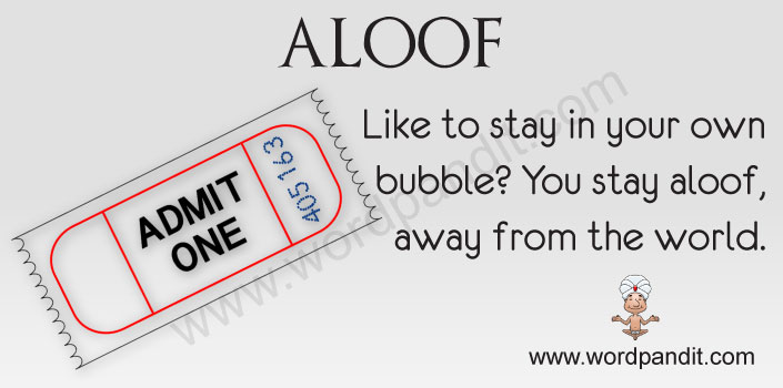 Picture for aloof