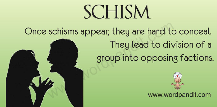 Picture for schism