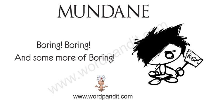 picture for mundane