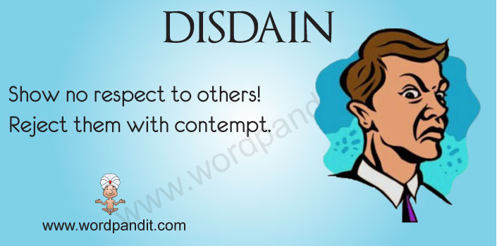 picture vocabulary for disdain