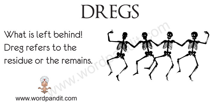 picture vocabulary for dregs