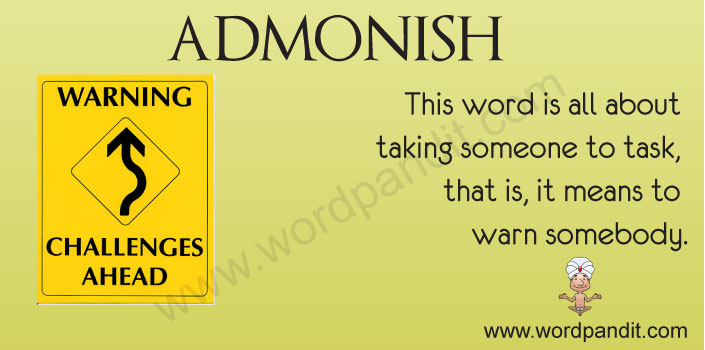 picture vocabulary for admonish