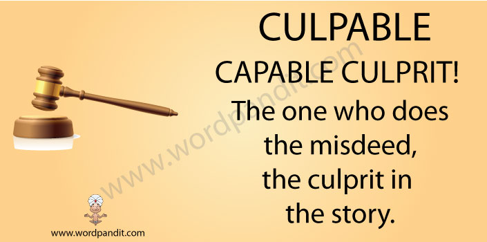 mnemonic tip for culpable