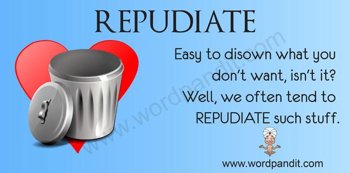 picture vocabulary for repudiate