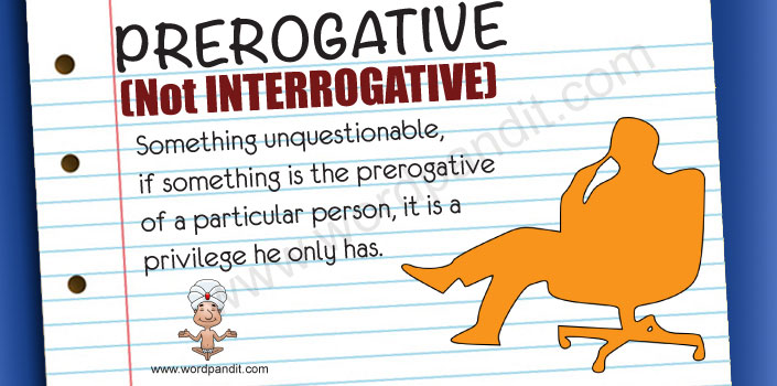 picture and mnemonic for prerogative