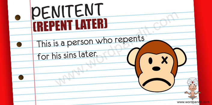 picture and mnemonic for penitent