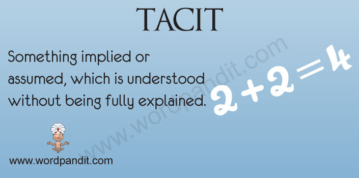 Meaning of Tacit