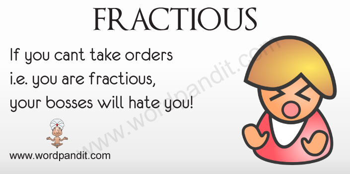 Picture for Fractious