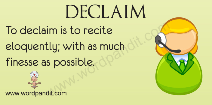 Picture for Declaim