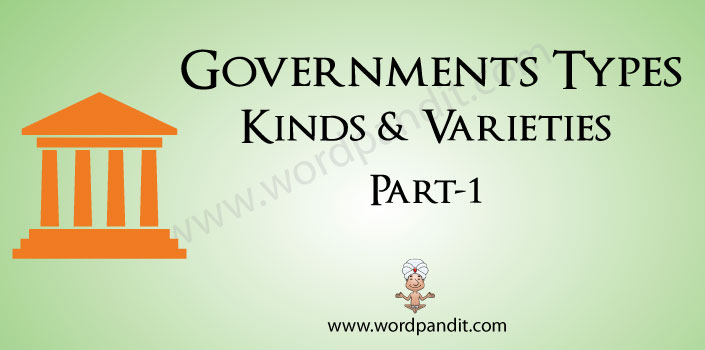 types of governments and words related to them