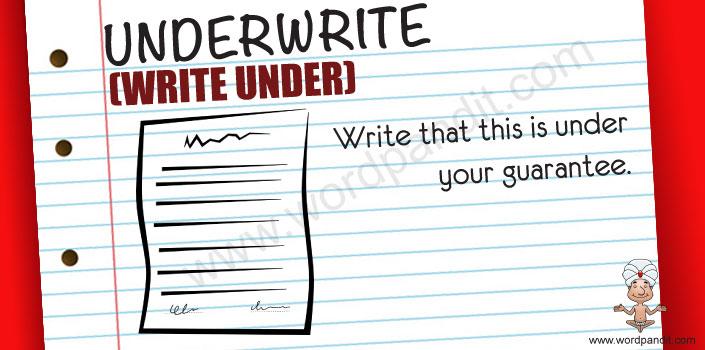 Picture for Underwrite