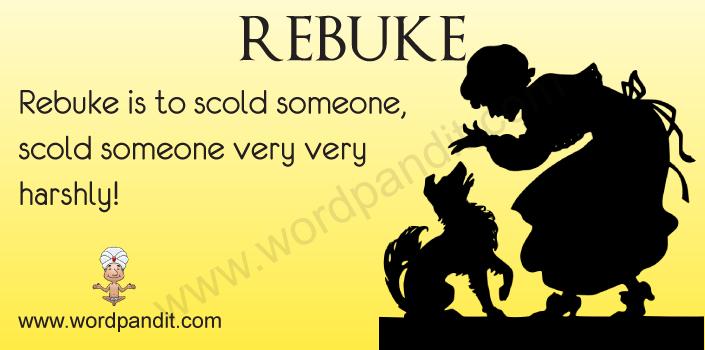 Picture for Rebuke