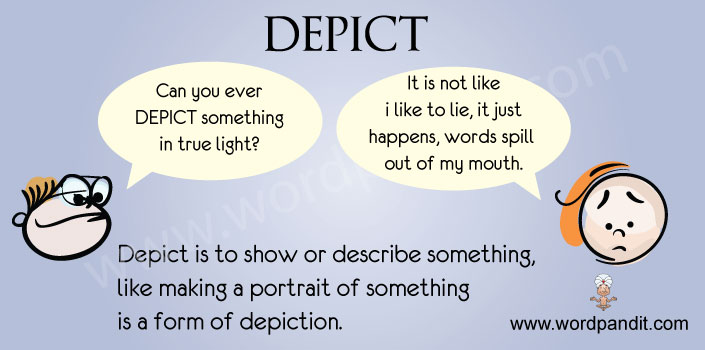 meaning and picture for depict