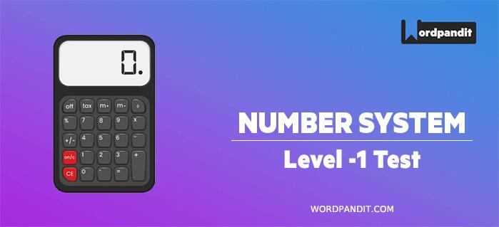 Number System: Level 1 Test – 1