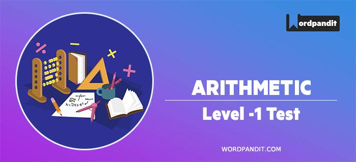 Arithmetic : Level 1 Test -9