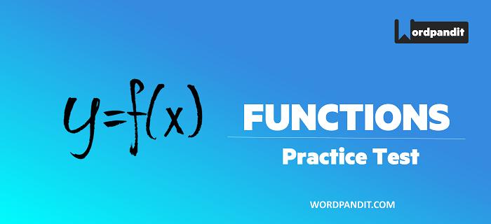 Algebra: Functions Test-6