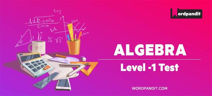 Algebra Level 1 Test 5