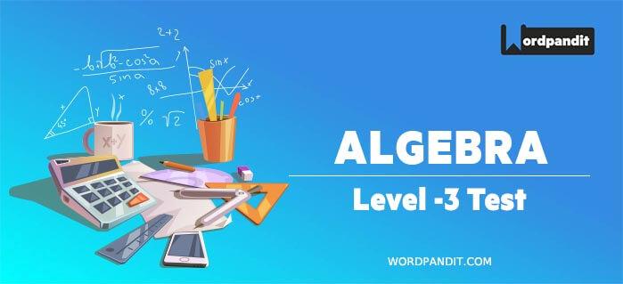 Algebra Level 3 Test 2