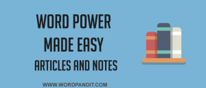 Articles for Word Power Made Easy by Norman Lewis