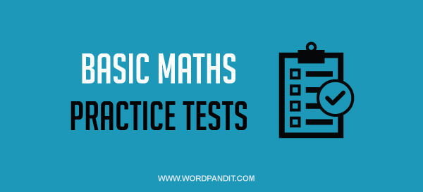 Basic Maths: Test 37
