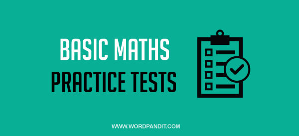 Basic Maths: Test 52