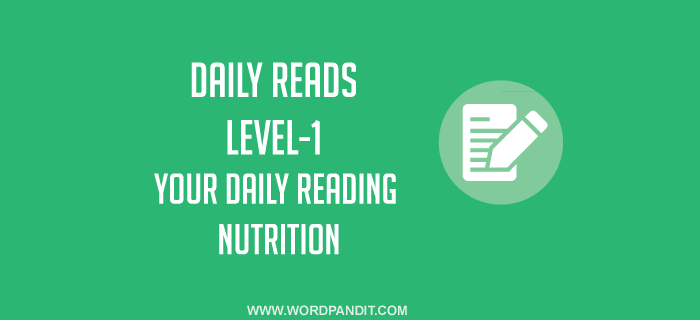 Daily Reads-1 (Level-1)