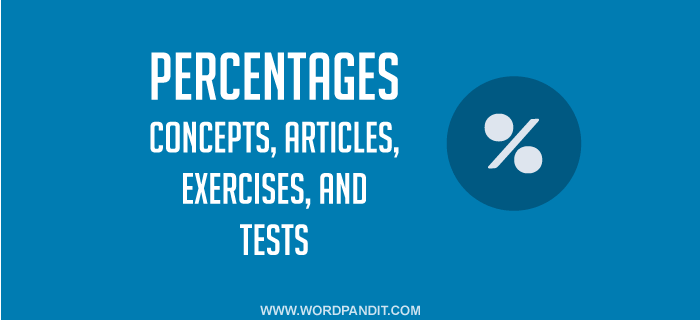 Percentages exercises