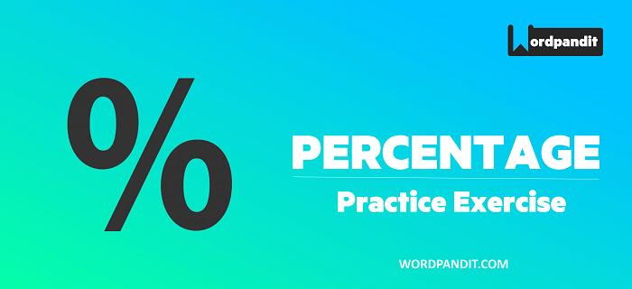 Percentages Practice tests