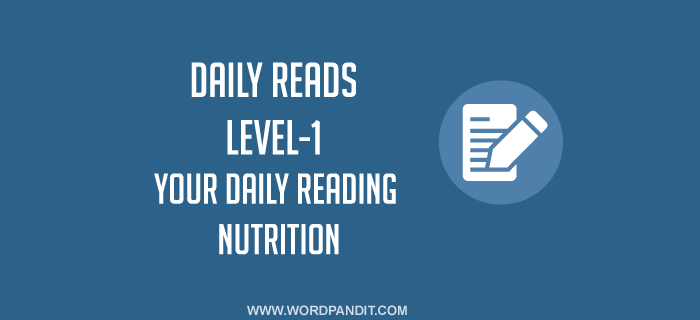 Daily Reads-4 (Level-1)