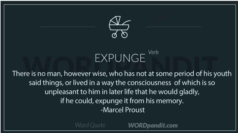 Quote/sentence for expunge
