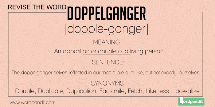 Doppelganger: Meaning, Sentences, Quote, Synonyms and Antonyms