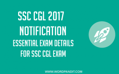 SSC CGL-2017 Notification