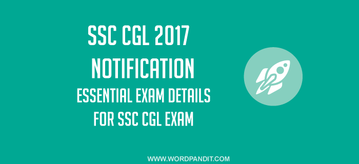 SSC CGL-2017 Notification
