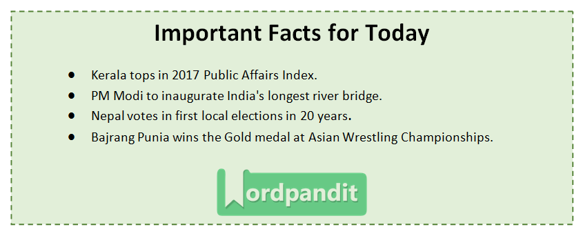 Current Affairs Quiz May 14 2017
