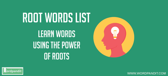 root words list