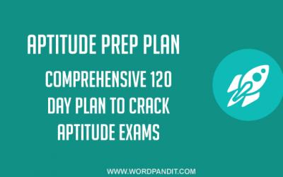 Aptitude Preparation Plan: Day-36