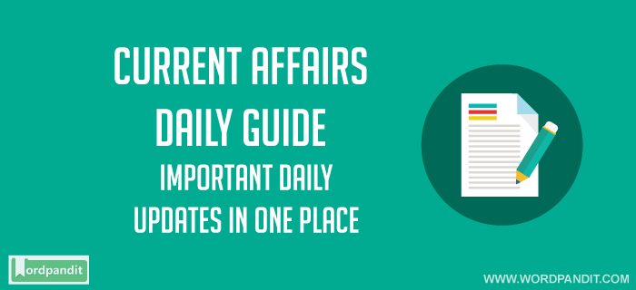 Daily Current Affairs 26 May 2018