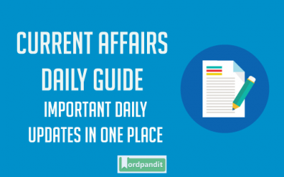 Daily Current Affairs 19 September 2017
