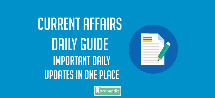 Daily Current Affairs 15 August 2017